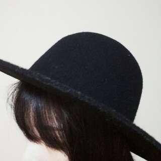 Black Felt Fedora Hat
