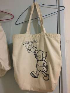 Original fake kaws tote bag