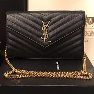 BEST SELLING YSL Monogram in Grained Matelasse WOC