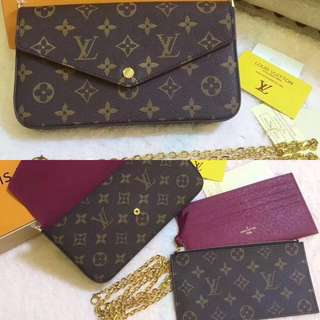 BEST SELLING LV POCHETTE FÉLICIE Chain Wallet