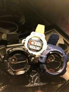 G-Shock 藍泥9300,黑貓9400,白色飛人9200