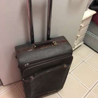 Leather luggage
