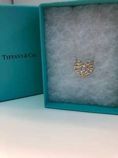 Tiffany & co sliver heart necklace