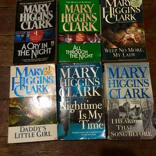 Mary Higgins Clark Books (25php each)