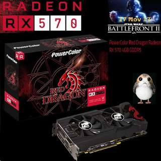 PowerColor RX 570 Red Dragon Radeon™ 4GB GDDR5..( 1 month ago, OLD )