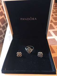 AUTHENTIC Pandora Earrings and Ring