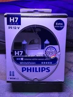 H7 12v Philips WhiteVision