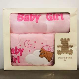 Shears Baby Pillow & Bolster Set (Pink Color Suitable For Baby Girl)