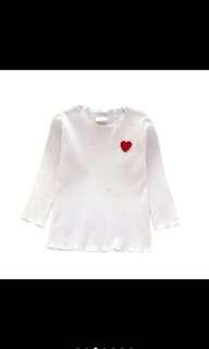 Girls Kids Shirt -White