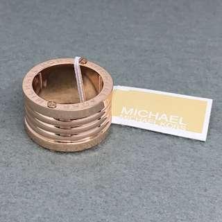 Michael Kors Sample Ring 玫瑰金色間條戒指size 7 直徑1.7 cm