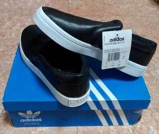 [全新]adidas courtvantage slip o 皮質休閒鞋 23.5