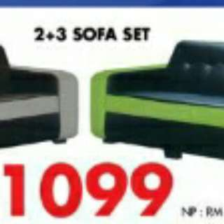 SOFA 2+3 LEATHER >BEST PRICE