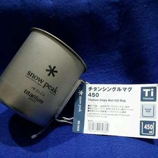 SNOW PEAK  TITANIUM  450ML Mug (from Japan )