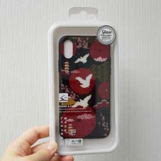 iPhone X Case 日本鶴電話殼