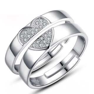 Sliver 925 Couple Ring(CR-016)