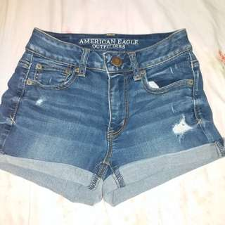 American eagle denim short 高腰牛仔短褲