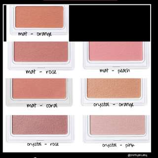 Muji cheek color Matte / Crystal blush on (new & PO)