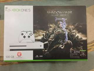 Xbox One S 500GB Shadow of War Bundle
