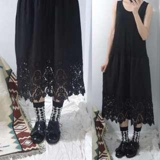 。error dot。日本布蕾絲襯裙背心洋裝