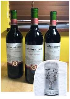 $150 for 3 Woodbridge Cabernet Sauvignon 2012