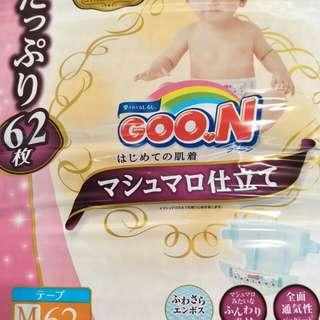 日本棉花糖尿布/增量/M-62片