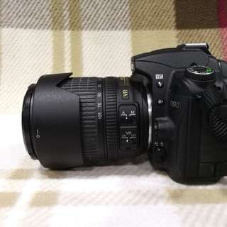 Nikon D90 with zoom lens