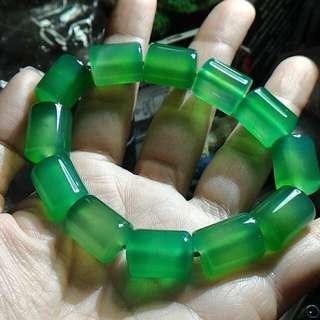 天然綠玉髓桶珠手鍊