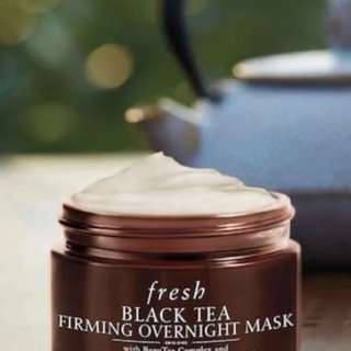 💯 AUTHENTIC Black tea firming overnight mask by FRESH - Sample size 15ml - NO NEGO