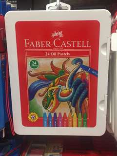Hexagonal colour oil castels isi 12 Faber Castell