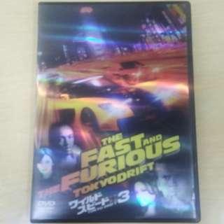 Paul Walker 狅野時速 速度與激情 玩命關頭 3 飄移東京 The Fast and The Furious 日本版 DVD 英語字幕 齊件 連Postcard