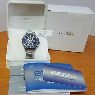 Brand New Seiko Chronograph Solar Watch