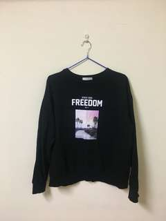 Freedom大學T/黑色
