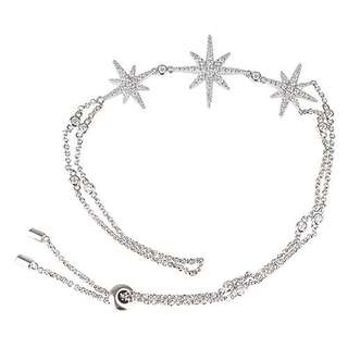 《全新正品》apm MONACO METEORITES系列晶鑽鑲飾流星設計純銀戒指手鍊(銀)