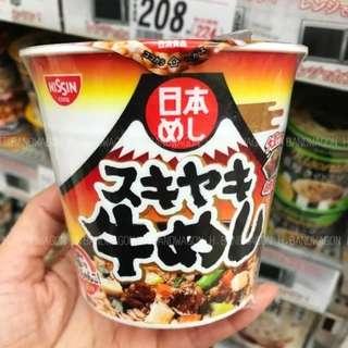 【H.BANDWAGON】日本 日清和風壽喜燒牛肉蓋飯 99g 即食 方便 消夜 連線 代購❤️5杯更優惠