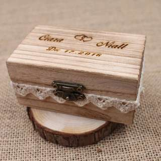 Wedding ring box - rustic