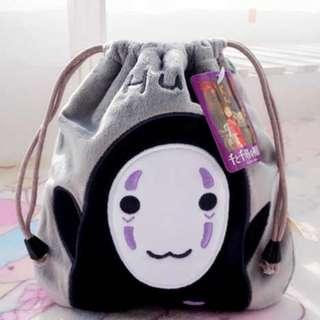 Spirited away No Face kaonashi drawstring pouch