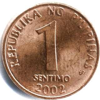 1 sentimo Philippine coin