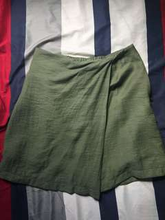Moss green skort