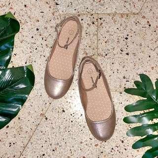Payless Smartfit Girls Gold Flats - Size 1
