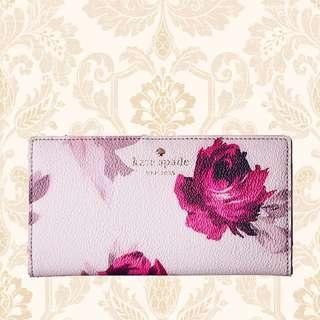 Kate Spade Hawthorne Lane Roses Stacy Wallet