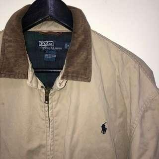 [伏見古著]古著 Polo 潑漆 燈芯絨領 小馬 復古夾克外套 vintage