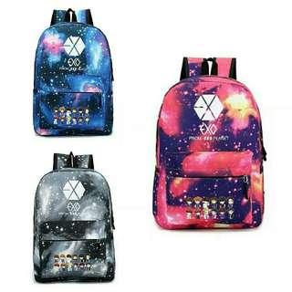 Exo galaxy school bag