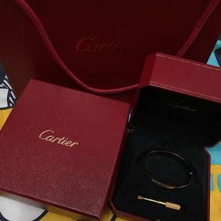 Cartier 18金 love 手鐲