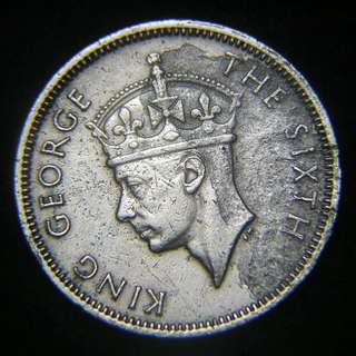 1951年英屬香港(British Hong Kong)伍毫鎳幣(英皇佐治六世像)
