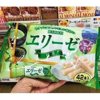 【H.BANDWAGON】日本 布爾本鹿耳島抹茶夾心餅乾 42入/包 連線 代購❤️5包更優惠