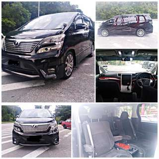 SAMBUNG BAYAR/CONTINUE LOAN  TOYOTA VELLFIRE 2.4 FULLSPEC YEAR 2010/2012 MONTHLY RM 1800 BALANCE 6 YEARS SUNROOF MOONROOF POWER DOORS POWER BOOT  DP KLIK wasap.my/60133524312/vellfire