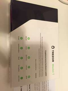 Trezor Model T New (Cryptocurrency hardware wallet)