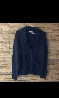 專櫃 CRAIG 深藍羊毛針織外套