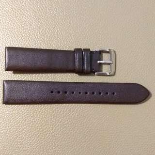 真皮錶帶leather watch band20mm
