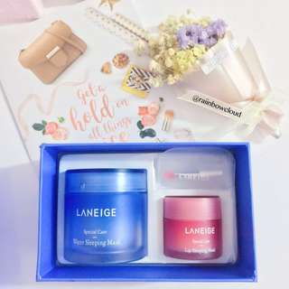 ✨INSTOCK! Laneige Sleeping Care Special Kit(Water Sleeping Mask 70ml + Lip Sleeping Mask 20g)
